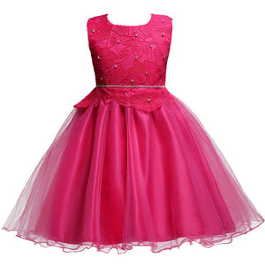 LZH Flower Girls Dress Summer Children Clothing Girls Party Dresses Carnival Costume Kids Wedding Dress For Girls Princess Dress