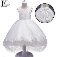 Girls Dress 2018 New Christmas Tutu Dresses For Girls Clothes Kids Costume Princess Bow Wedding Dress Children Clothing Vestidos