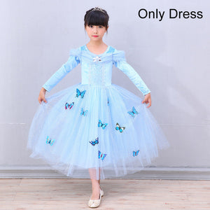 LZH Cinderella Dress Sleeping Beauty Easter Carnival Costume For Kids Aurora Princess Party Dresses For Girls Children Clothes
