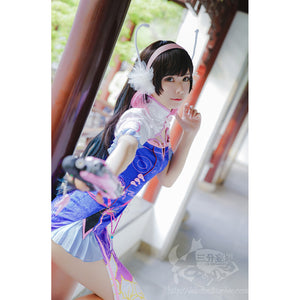 Ow Watch Over Dva Chinese Cheongsam Cosplay Costume Stage Dress Halloween Uniform D.VA Song Hanna Cos Garment