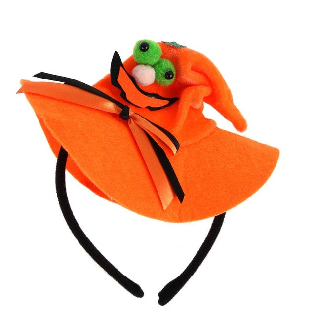New Halloween Party Costume Headwear Hairband Pumpkin Cap Look Style Head Decor Hair Clasp Gags Practical Joke Hairband