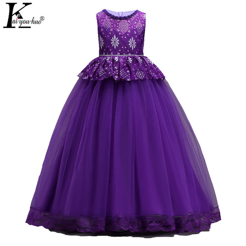 2018 Summer Dress Carnaval Dresses For Girls Clothes Vestidos Kids Costume Teenager Wedding Dress 5 6 7 8 9 10 11 12 13 14 Years