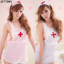COSPLAY temptation to nurse Sexy lingerie women costumes Sexy underwear Role play Pink White Sleepwear