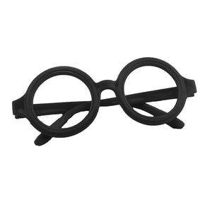 12pcs Glasses Frame Nerd Round Black Frame Glasses No Lenses Costume Eyewear (Black)