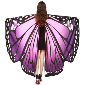 Chamsgend Newly Design Women Butterfly Wings Pashmina Shawl Scarf Nymph Pixie Poncho Costume Accessory 70925 Drop Shipping
