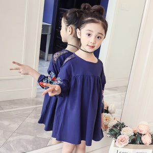 Vestidos Girl Princess Dress 2018 Brand Spring Children Costume for Kids Clothes Baby Birthday Party Dress 4 6 8 10 12 14 years