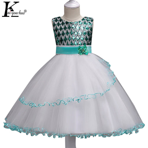 2018 Children Summer Princess Dresses For Girls Costume For Kids Party Wedding Dress Fashion Vestidos Baby Girls Christams Dress
