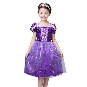 New Girl Fancy Dress Costume Kids Princess Girls Dresses Outfit Ages 3/4/5/6/7/8/9/10