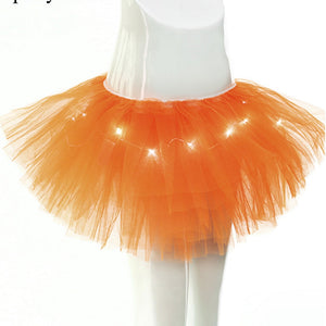 Summer Women Skirts Adult Girls Ballet Skirt TUTU Women Charming LED Lights Dance Tutu Skirts Sexy Light Up Mini skirt For Party