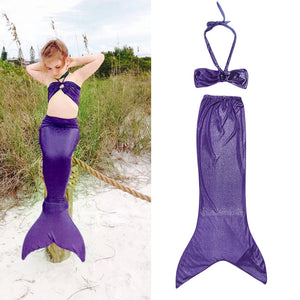 Breathable Princess Little Mermaid Tail Dress Children Kids Girls Kid Mermaid Tails Costume Bikini Swimsuit Set