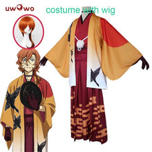 UWOWO Chuya Nakahara Cosplay Bungo Stray Dogs Costume Japanese Kimono Yukata Pajamas Home Wear Bungo Stray Dogs Costume Men