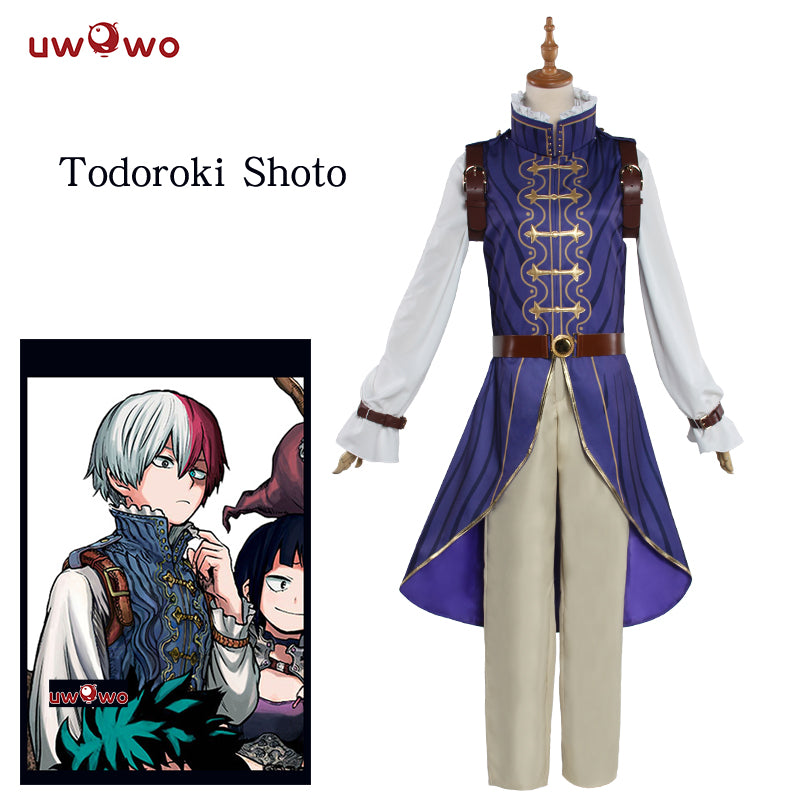 Uwowo My Hero Academia Cosplay Todoroki Shoto Prince Uniform