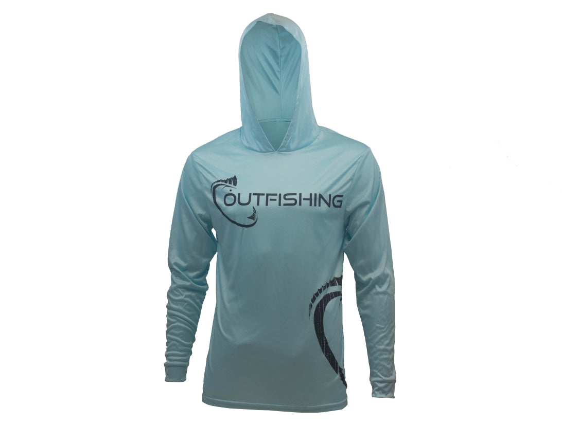 Long Sleeve Performance Dri-Fit Hoodie (Sea Mist)