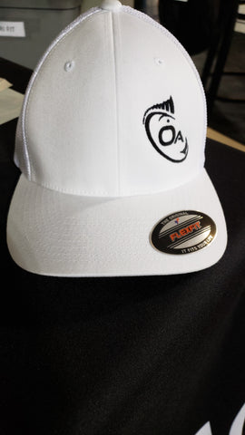 Offset Flex Fit Mesh Delta Hat (White)