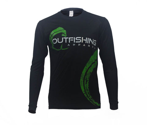 Men's Long Sleeve Performance Dri-Fit Mahi (Black)
