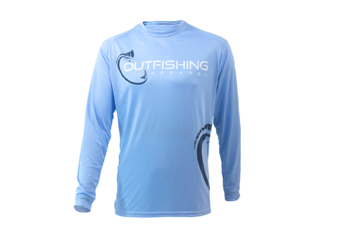 Men's Long Sleeve Performance Dri-Fit (Blue)