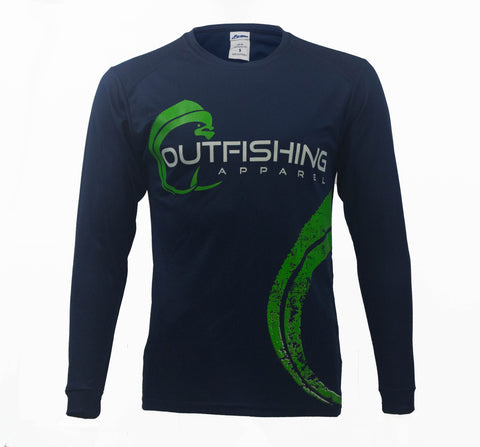 Men's Long Sleeve Performance Dri-Fit Mahi (Navy)