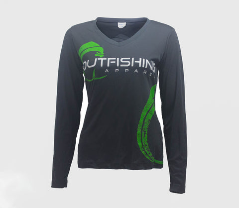 Women's Long Sleeve Performance Dri-Fit Mahi (Grey)
