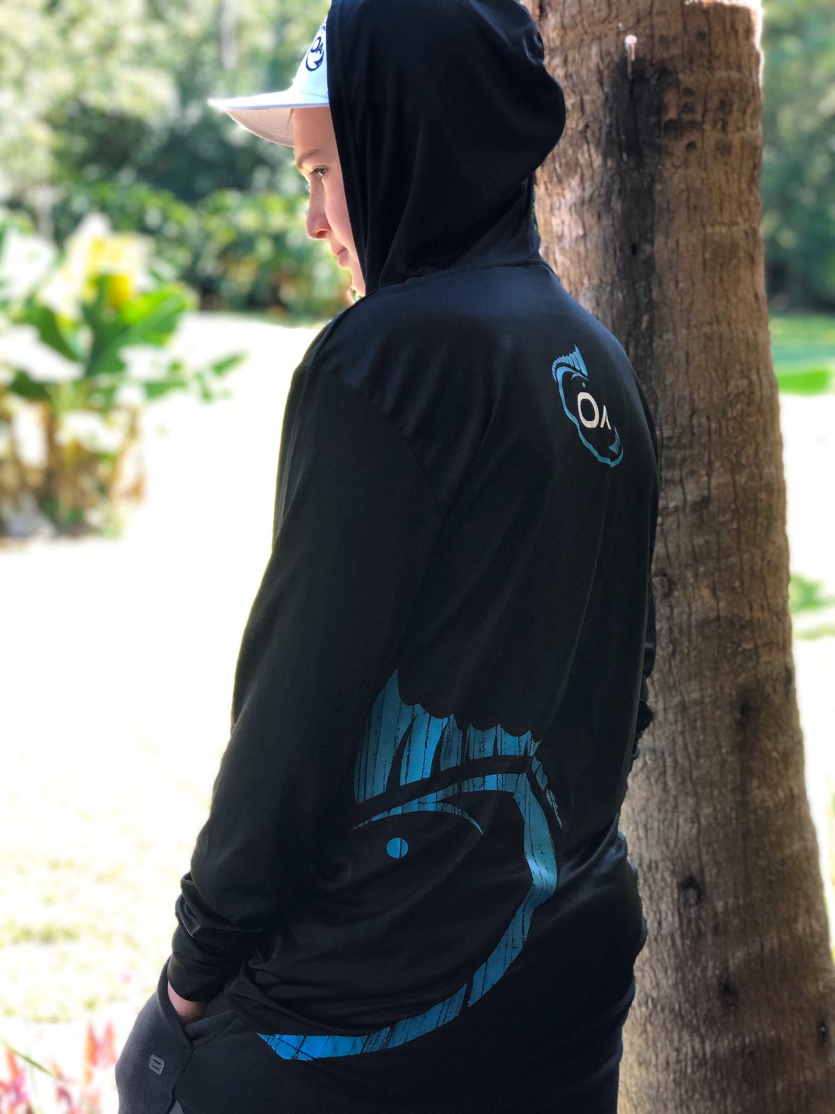Long Sleeve Performance Dri-Fit Hoodie (Black)