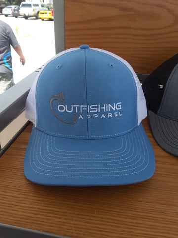 Trucker Hat Full Logo (Baby Blue, White)