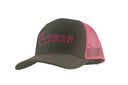 Trucker Hat (Grey, Pink)