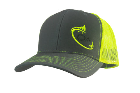 Trucker Hat (Grey, Neon Yellow)
