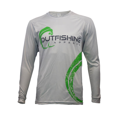 Men's Long Sleeve Performance Dri-Fit Mahi (Aluminum)
