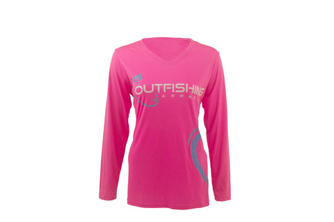 Women's Long Sleeve Performance Dri-Fit (Pink)