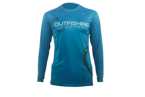 Men's Long Sleeve Performance Dri-Fit (Turquoise)