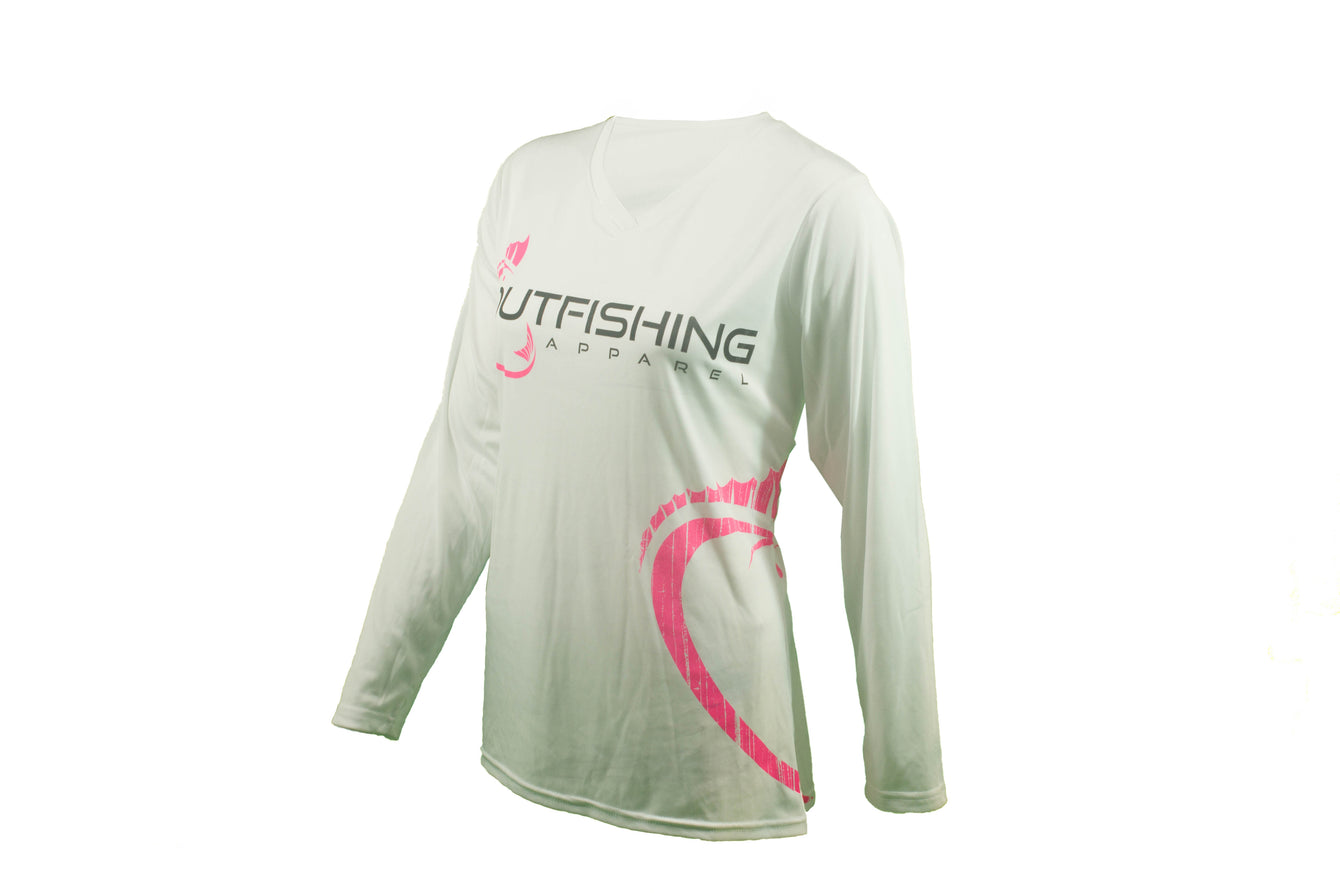 Women's Long Sleeve Performance Dri-Fit (White)