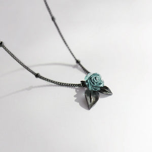 Black Frost Rose Necklace