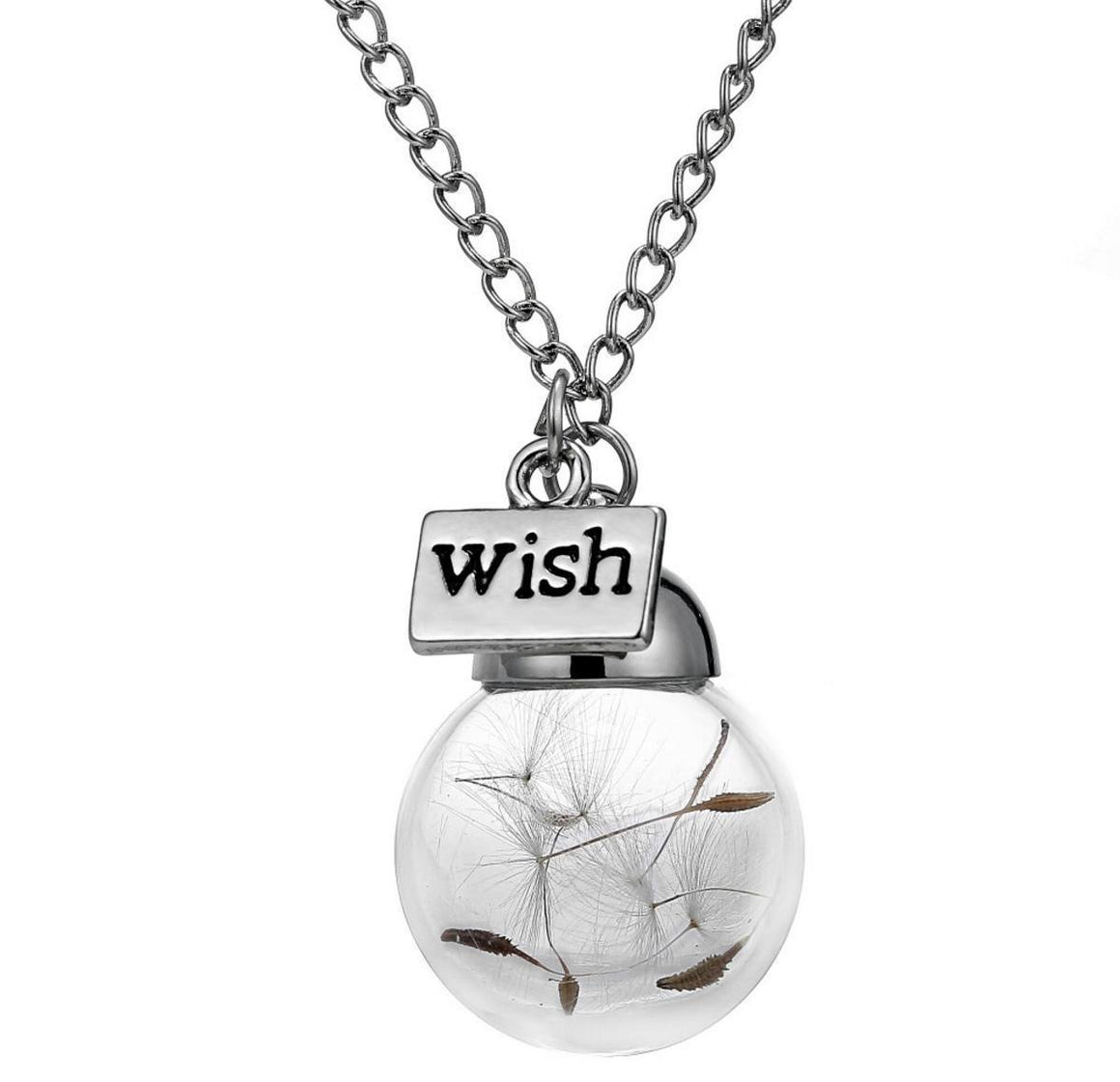 Wish Dandelion Crystal Necklace