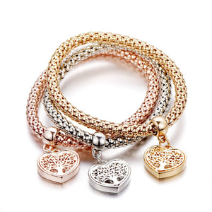 Tree of Life Heart Bracelets