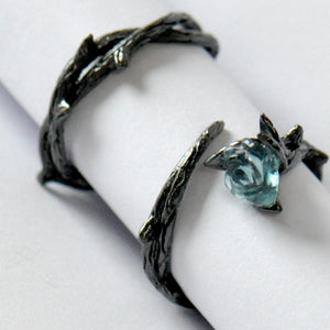 Black Frost Rose Ring