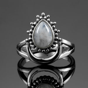 Lunar Goddess Natural Moonstone Ring