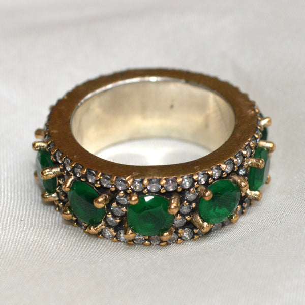 Emerald Victorian Ring