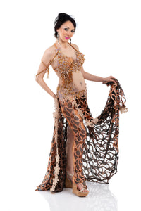 Bronzed Beauty. Exclusive Bellydance Costume. Skirt