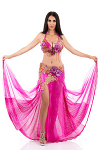 Enchanting Fuchsia. Exclusive Bellydance Costume. Front