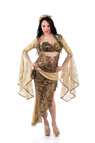 Golden Galabeya, Exclusive bellydance costume front
