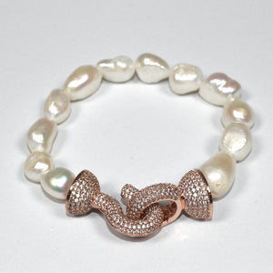Rose Gold Indian Pearl Bracelet