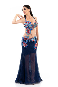 Ice Berry. Exclusive Bellydance Costume. Front