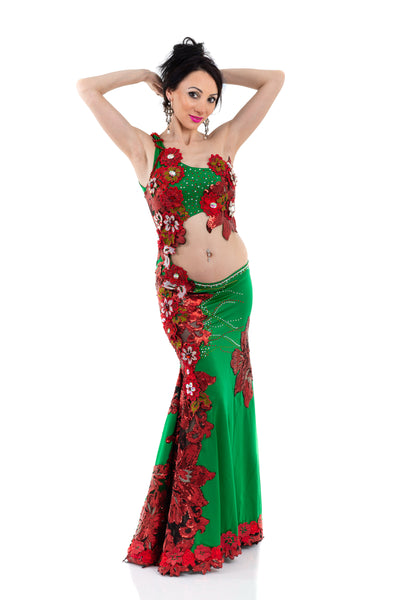 Rose Garden. Exclusive Bellydance Costume