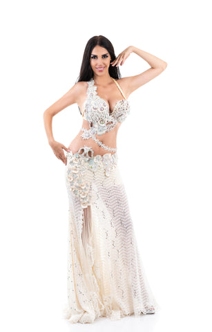 Winter Princess. Exclusive Bellydance Costume. Front