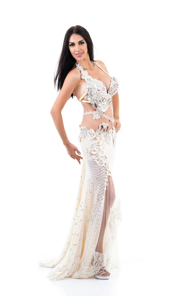 Winter Princess. Exclusive Bellydance Costume. Lateral
