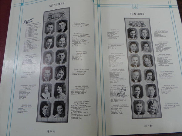 1933 SHENANDOAH HIGH SCHOOL Iowa Original YEARBOOK Annual The Shenandoah