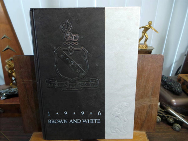 1996 LANDON SCHOOL Bethesda Maryland Original YEARBOOK Annual Brown And White