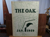 1950 January ROYAL OAK HIGH SCHOOL Michigan Original YEARBOOK Annual The Oak