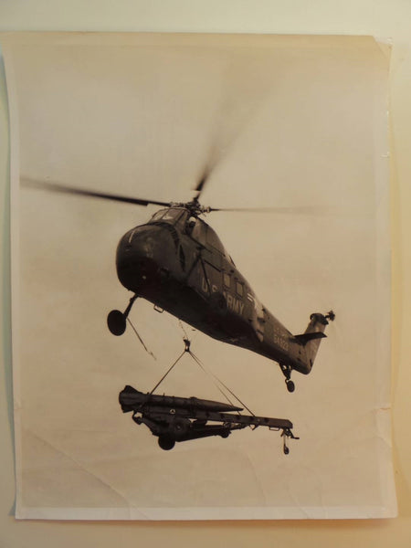 1958 H-19 Helicopter 82nd Airborne ORIGINAL Official U.S. Army Photograph