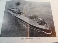 1953 1954 USS CATAMOUNT LSD-17 FAR EAST Original Cruise Log Book Deployment