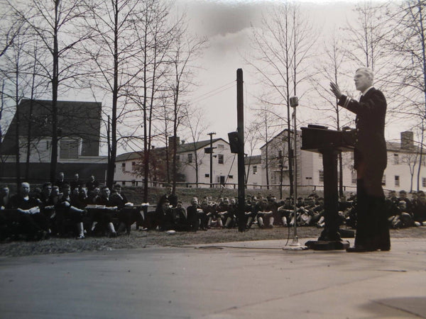 1945 Photo U.S. COAST GUARD Good Friday Services Curtis Bay Baltimore Maryland